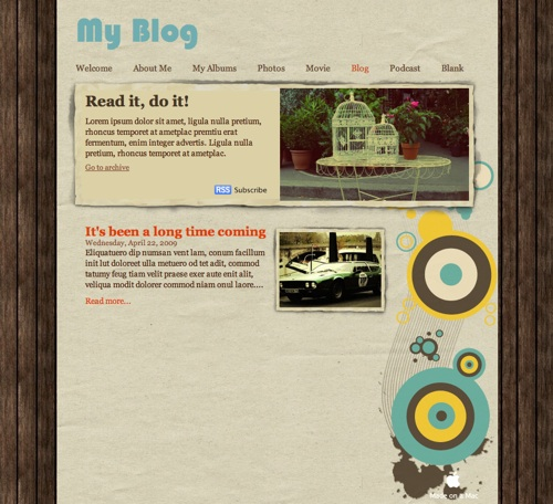 Free Iweb Theme From All About Iweb All About Iweb