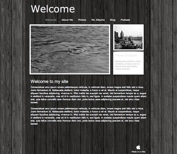 Free carbon iweb theme | all about iweb.