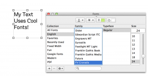 Select your Font in EverWeb's Font Panel
